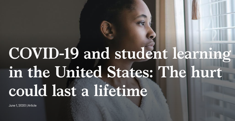 Headline - COVID-19 and student learning in the United States: The hurt that could last a lifetime